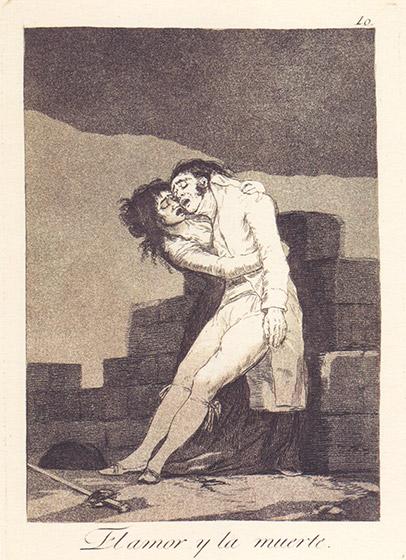 el amor y la muerte • Francisco de Goya